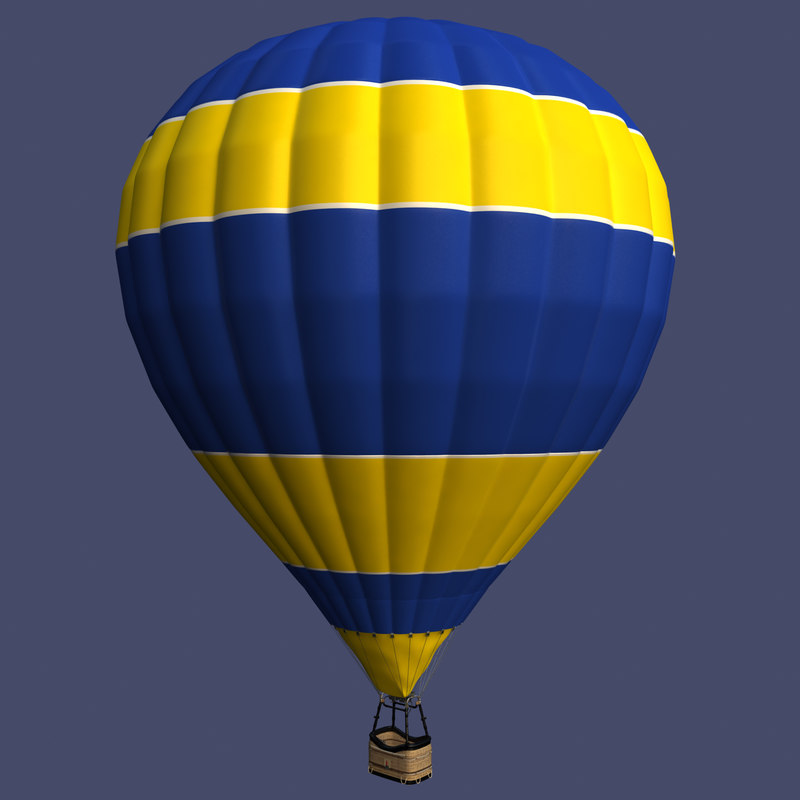 3d balloon basket model