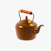 3d model copper kettle