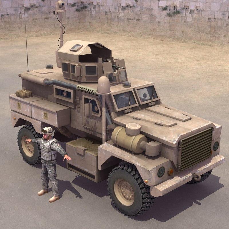 cougar mrap driver 3d model