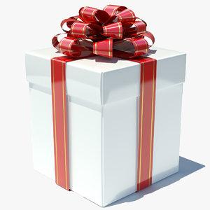 3ds max gift box white