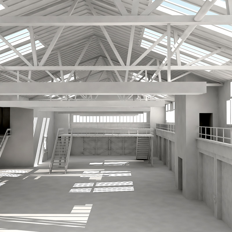 architectural warehouse 3ds