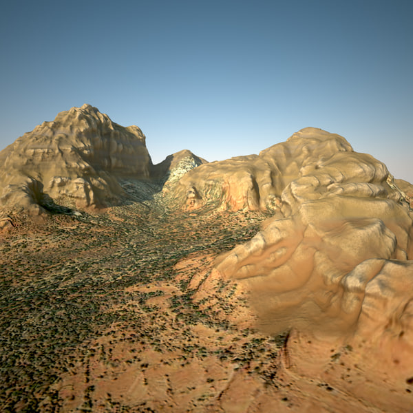 3d desert mountain