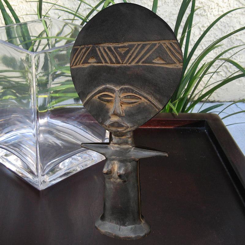 african fertility doll 3d model