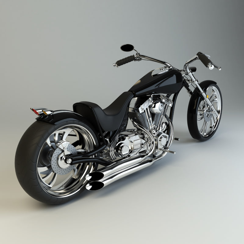 3d model custom chopper
