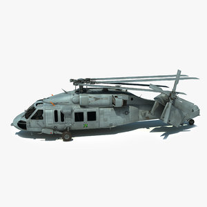 3d mh-60s sikorsky military helicopter