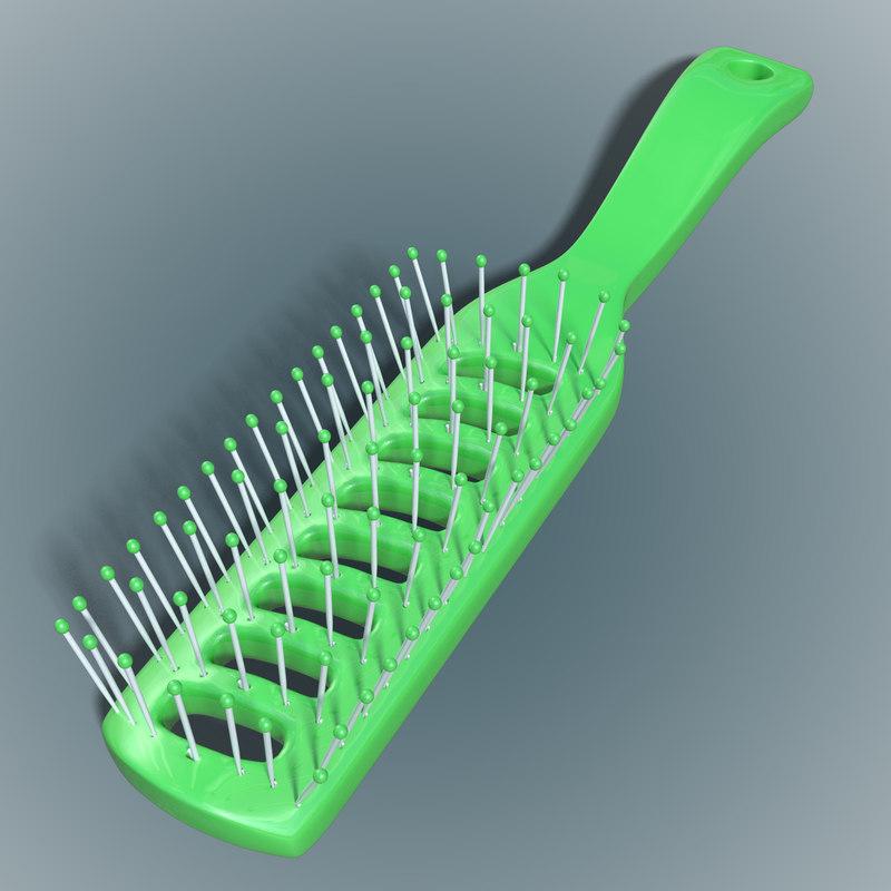 3d hairbrush hair brush