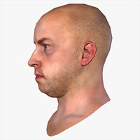 realistic human male head max