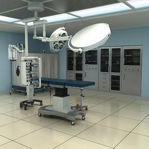 surgery room 3d model
