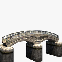 old stone bridge hitecture 3d max