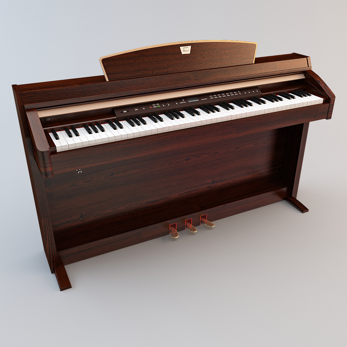 3ds max piano musical instrument