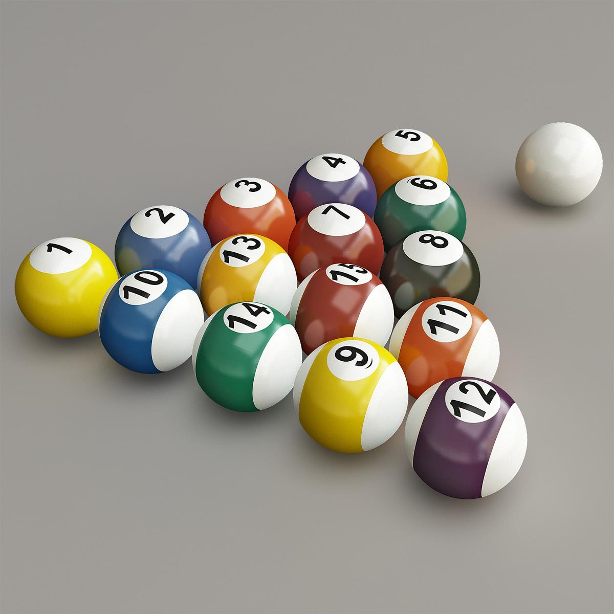billiard balls set 3d 3ds