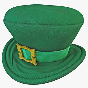 3ds max green leprechaun hat