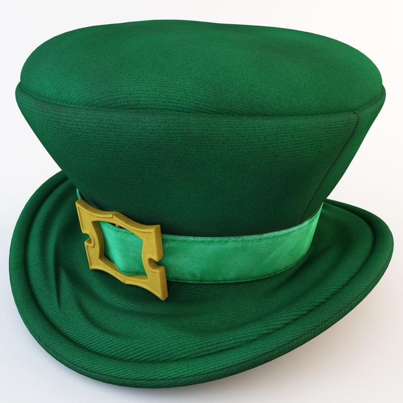 3ds max green leprechaun hat