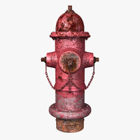 maya old red hydrant