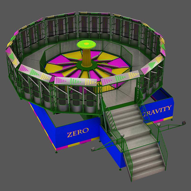 3d zero gravity ride model