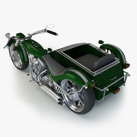 custom chopper sidecar 3d fbx