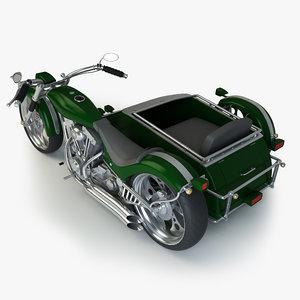 custom chopper sidecar 3d fbx