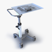 medical instruments cart 3d max