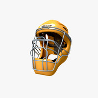 3d model baseball catcher helmet