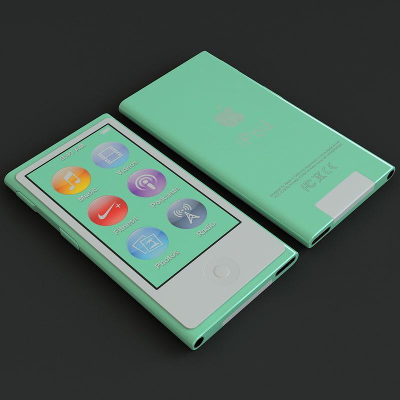 3ds max green ipod nano