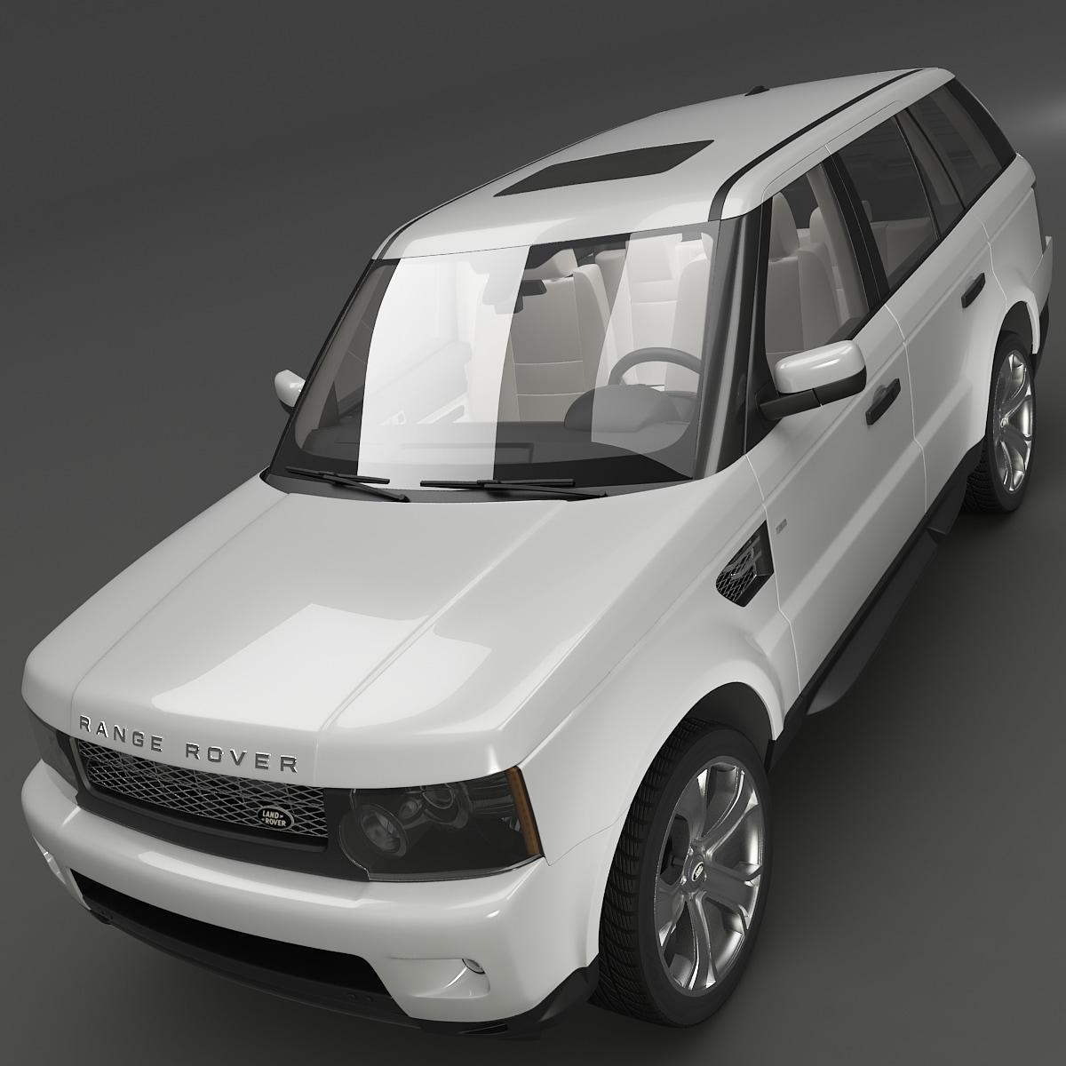 land rover range sport 3d model