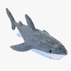 3d model plush shark