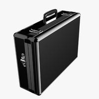 max modern suitcase aluminium black
