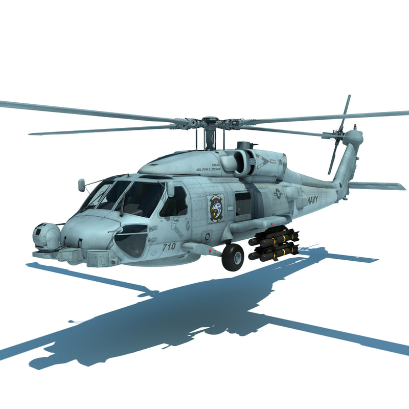 max mh-60r military helicopter