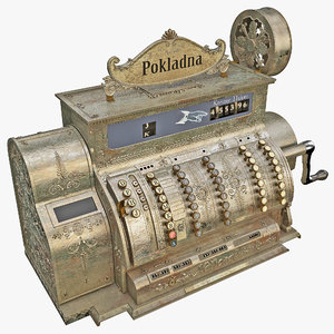 3d old cash register 2 model