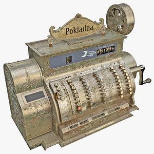 3d old cash register 2 model