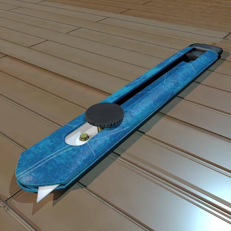 box knife 3d model