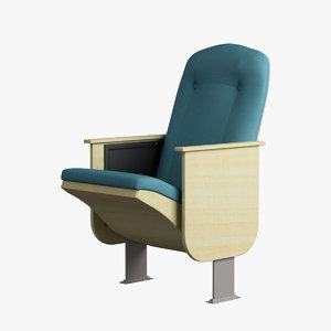 armchair wood cloth 3d max