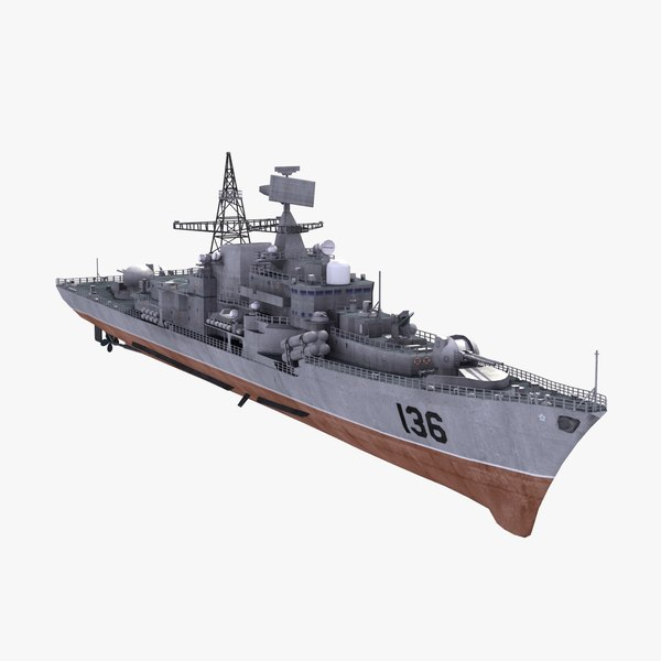 3d chinese hangzhou destroyer model