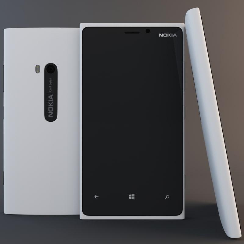 nokia lumia 920 white. white nokia lumia 920 3d model a