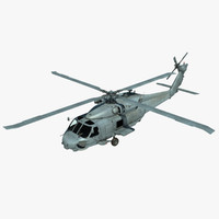 3ds max s-70b sikorsky military helicopter
