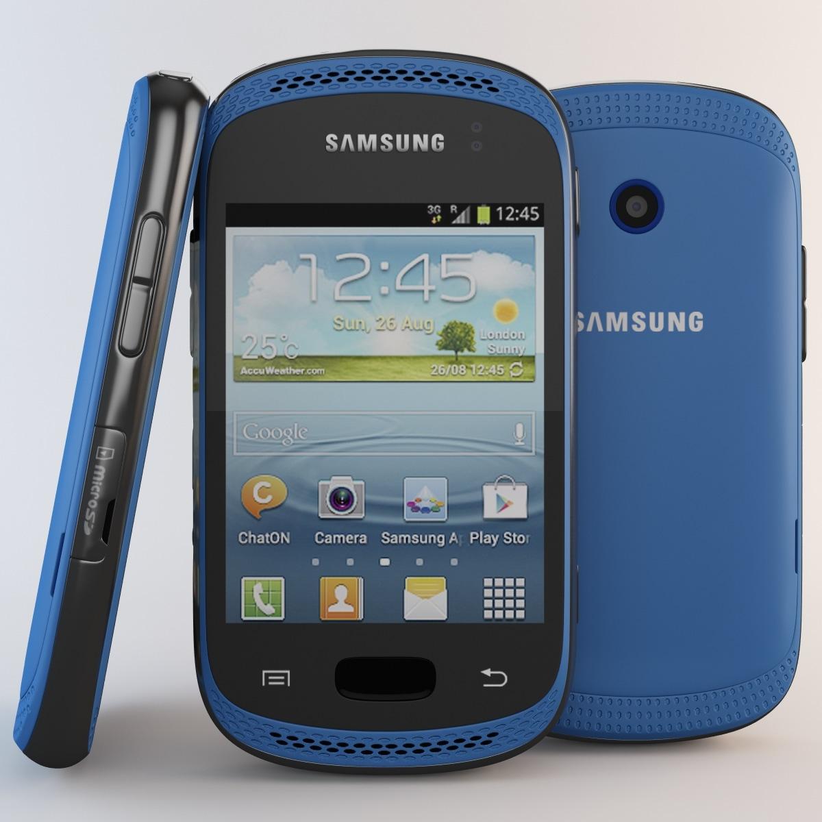 3dsmax blue samsung galaxy cellphone