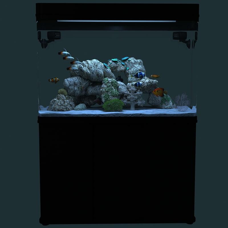 3d model marine aquarium
