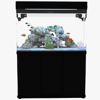 3d model marine aquarium