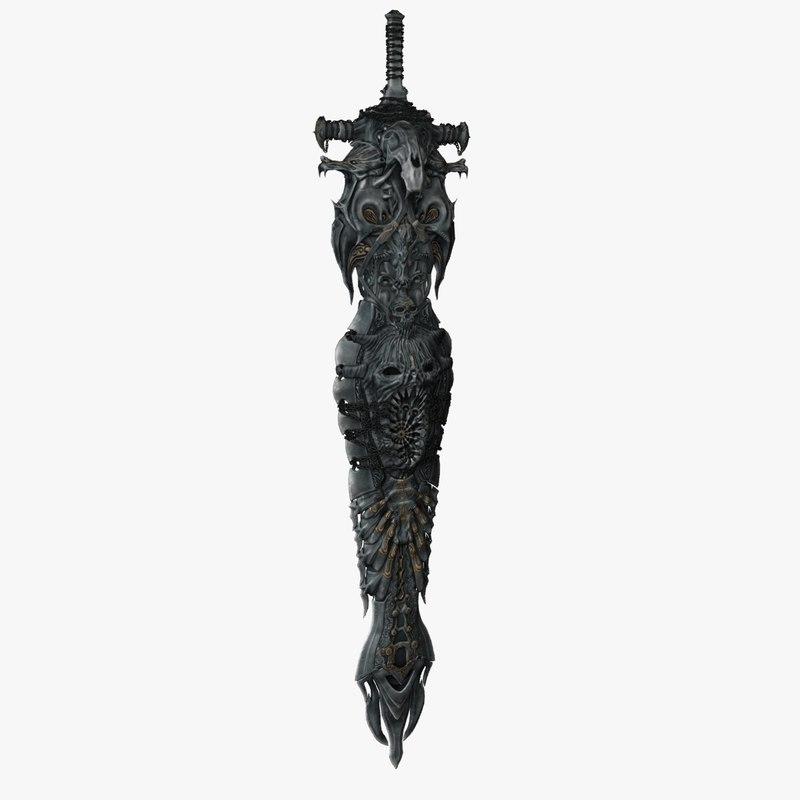 3d model reantum rampage sword