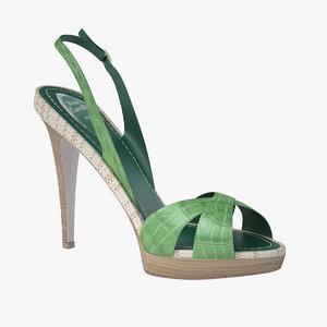 - green sandals caovilla 3d model