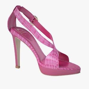 3d model of - pink sandals caovilla