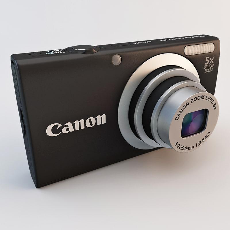 3d model canon a2300 powershot