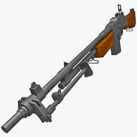 M1918A2 Browning Automatic Rifle With Folded Bipod 2