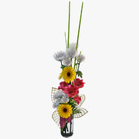 3d 3ds flowers bouquet