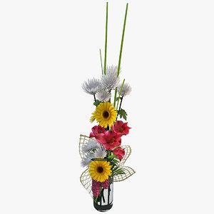 3d 3ds flowers bouquet