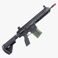 battle rifle 417 2 3d max