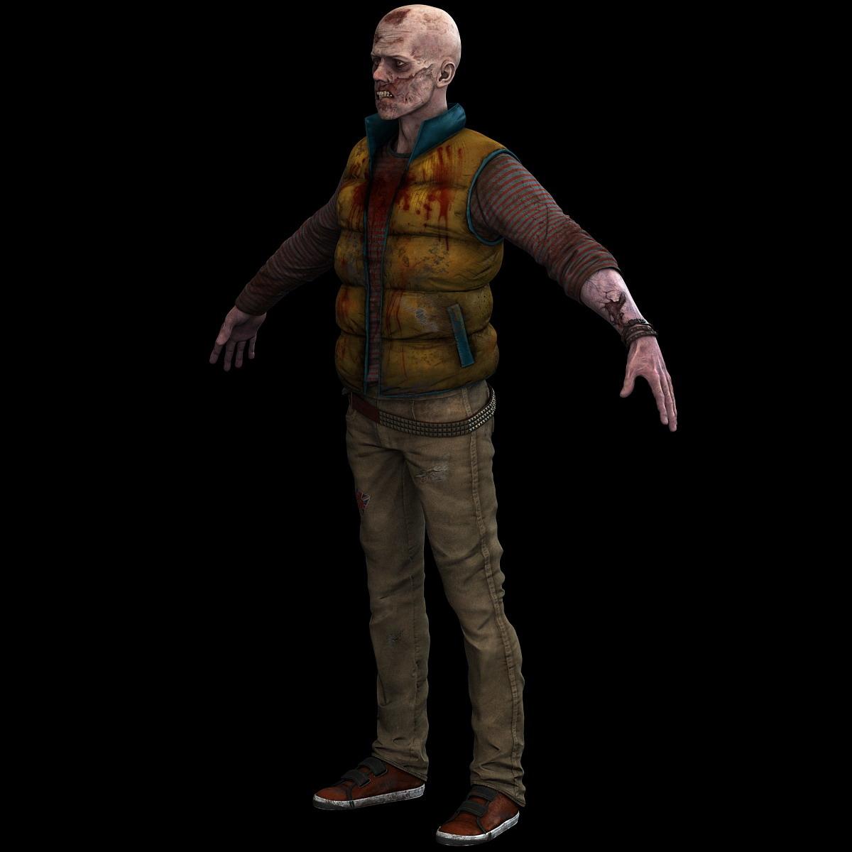 3d zombie monster creature model