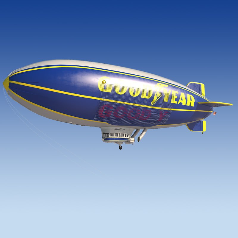 good year blimp 3d max