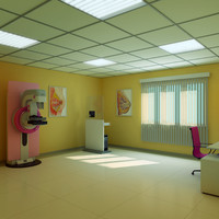 3d model mammography room