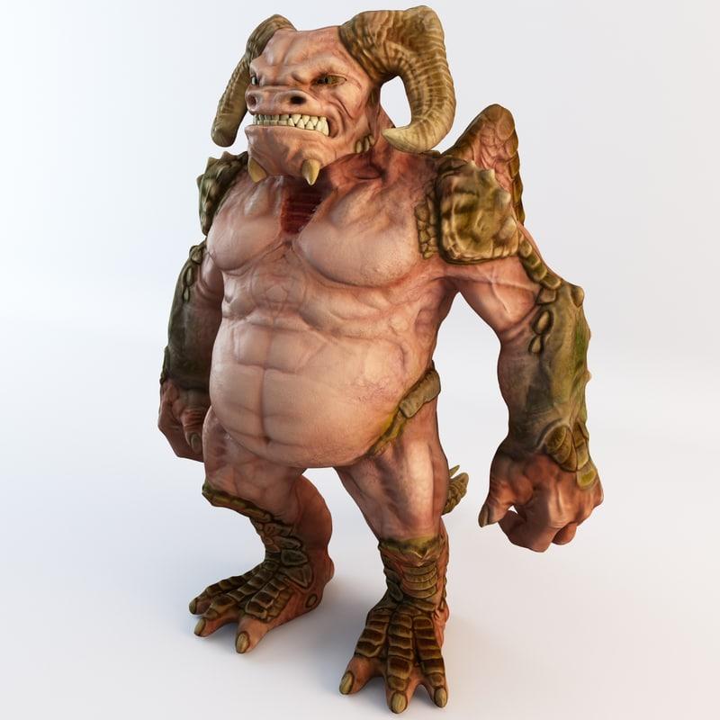 demon monster 3d c4d